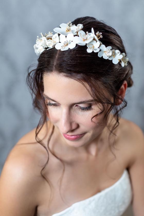 Blumenkränze als Haarschmuck